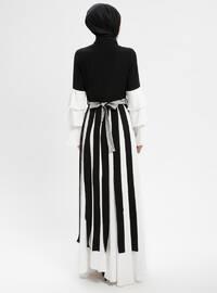 Black - Multi - Polo neck - Fully Lined - Dresses