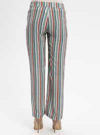 Khaki - Stripe - Pants