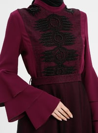 Plum - Polo neck - Fully Lined - Dresses