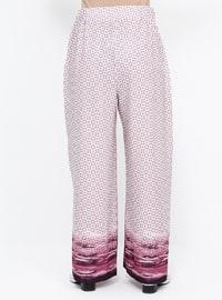 Purple - Lilac - Multi - Plus Size Pants