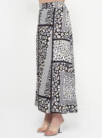 Black - White - Multi - Fully Lined - Plus Size Skirt