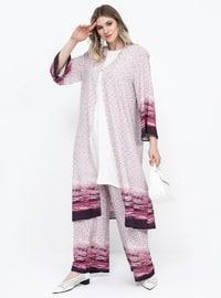 Lilac - Multi - Unlined - Plus Size Coat