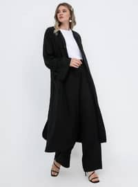 Black - Cotton - Plus Size Pants
