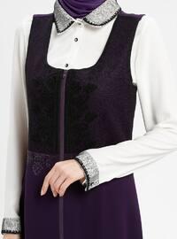 White - Purple - Ecru - Unlined - Suit