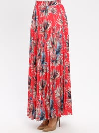 Coral - Multi - Fully Lined - Skirt
