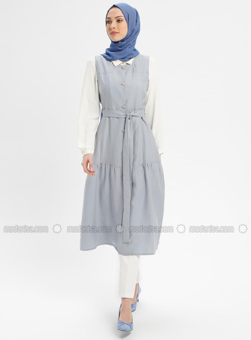 Blue - White - Ecru - Unlined - Suit