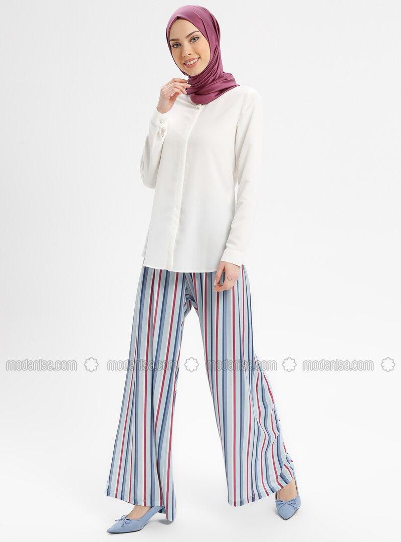 b58908eee71308 Blue - Navy Blue - Stripe - Pants. Fotoğrafı büyütmek için tıklayın