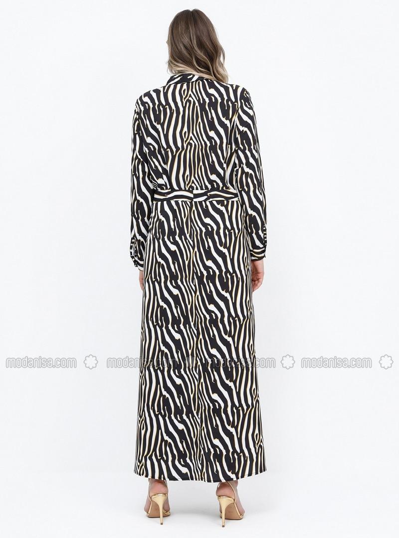 Tunique-Robe 100/% viscose Animal-Print Zèbre//Noir