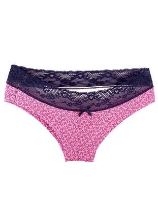 Navy Blue - Fuchsia - Panties