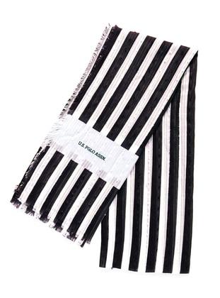 Black - White - Printed - Shawl - Akel
