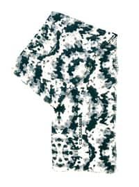 Smoke-coloured - Printed - Shawl