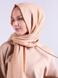 Beige - Plain - Shawl