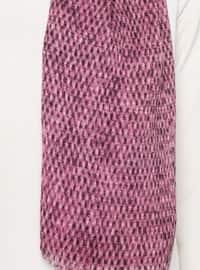 Plum - Printed - Cotton - Shawl