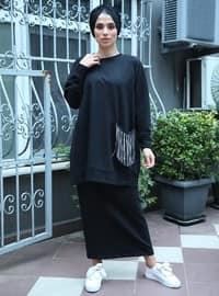 Siyah - Pamuk - Kostüm