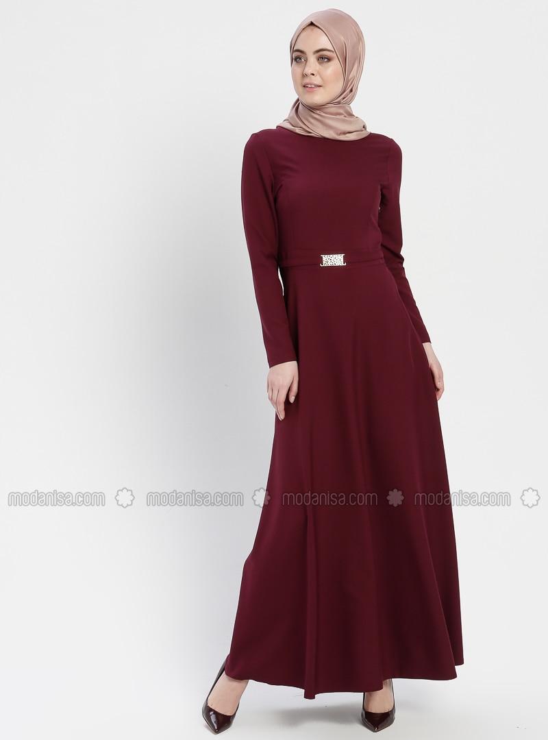 Cherry - Crew neck - Unlined - Dresses - ZENANE