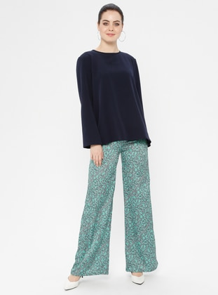 Green - Multi - Pants