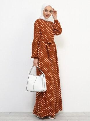 - Polka Dot - Polo neck - Fully Lined - Viscose - Dress
