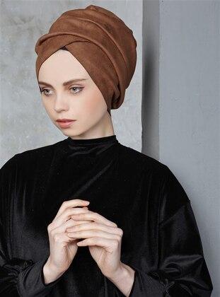 Brown - Lace up - Bonnet