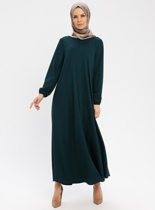 Green - Crew neck - Unlined - Dresses - ECESUN
