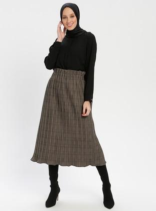 Black - Plaid - Fully Lined - Skirt