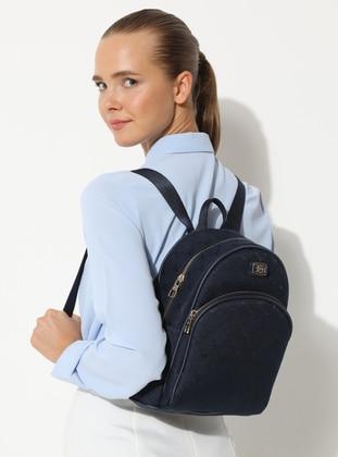 Navy Blue - Canvas - Backpacks