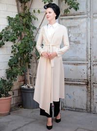 Cream - Shawl Collar - Jacket