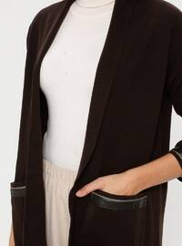 Brown - Wool Blend - Acrylic -  - Jacket