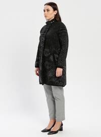 Black - Multi - Unlined - Polo neck - Wool Blend -  - Jacket