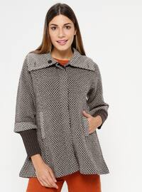 Brown - Minc - Unlined - Point Collar -  - Jacket