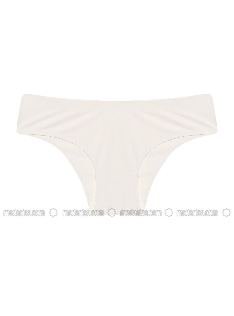 White - Ecru - Panties
