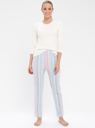 Pink - Purple - Stripe - Tracksuit Bottom