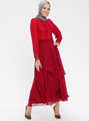 Cherry - Crew neck - Fully Lined - Dress