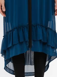 Petrol - V neck Collar - Tunic