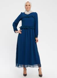 Petrol - Crew neck - Fully Lined - Dress