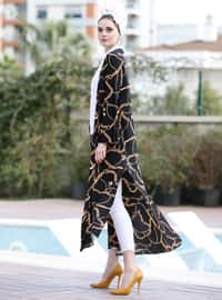 Black - Gold - Stripe - Unlined - Jacket