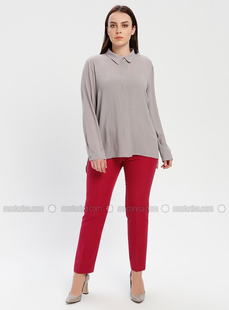 Fuchsia - Cherry - Plus Size Pants