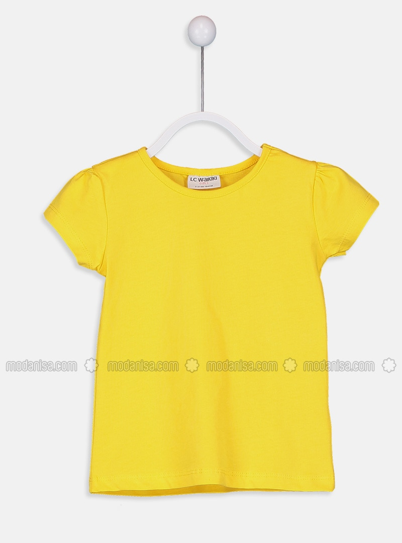 Yellow - Crew neck - T-Shirt