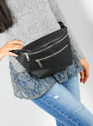 Black - Satchel - Bum Bag - WMİLANO