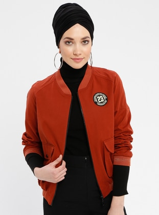 Terra Cotta - Fully Lined - Crew neck - Puffer Jackets