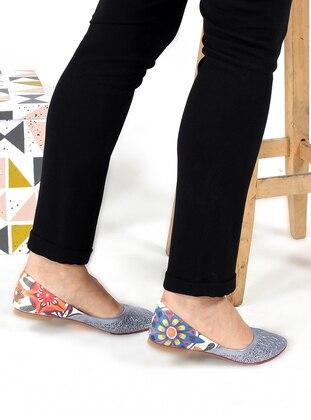 Blue - Flat - Sandal