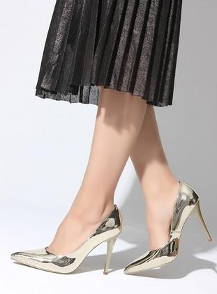 Golden tone - High Heel - Sports Shoes