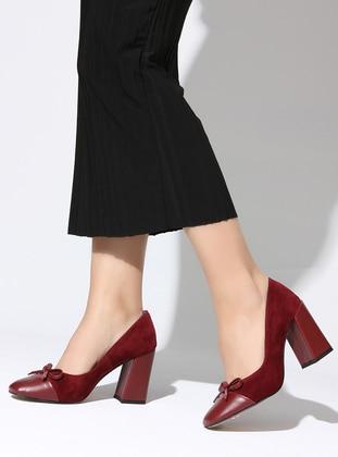 Maroon - High Heel - Sports Shoes