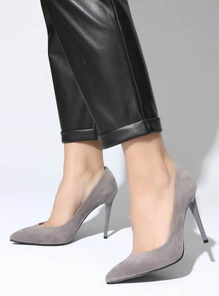 Gray - High Heel - Sports Shoes