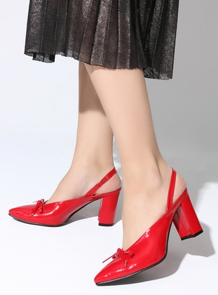 Red - High Heel - Sports Shoes