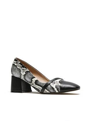 Black - White - High Heel - Sports Shoes