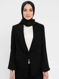 Black - White - Fully Lined - Suit