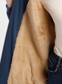 Indigo - Fully Lined - Crew neck - Puffer Jackets