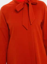 Orange - Fully Lined - Button Collar - Coat