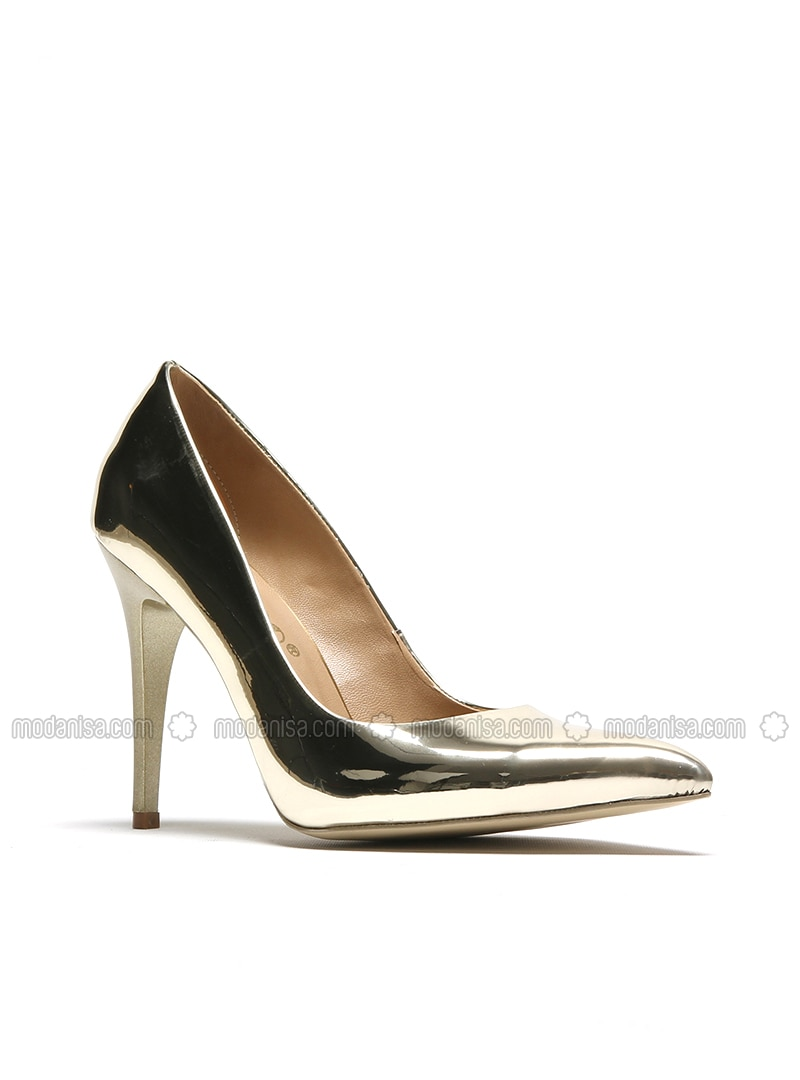 High Heel Tone Golden Sports Shoes Pwnk80O