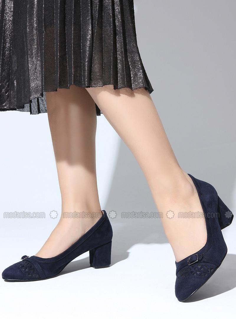 47b815541 Navy Blue - High Heel - Sports Shoes. Fotoğrafı büyütmek için tıklayın